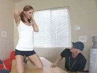 Sexy fit teen catches coa...