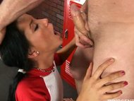 Sexy brunette girl gets f...