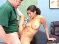 Busty latina teen fucked hard by her teacher