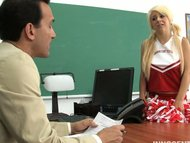 Cute cheerleader Tessa su...