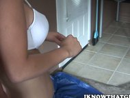 Curvy Brunette Fucks Hard