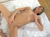 Young and wet Teen masturbates