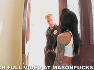Pornstar Mason Moore gets arrested and fucked by a cop