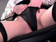 Closeup masturbation in linger