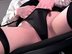 Closeup masturbation in lingerie