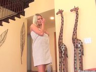 Horny pornstar enjoys str...