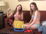 Two cuteys playing a Stripping Game