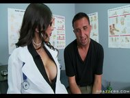 Busty Brunette Doctor sucks sw