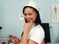 Horny nurse Pavlina is di...