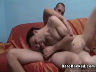 Hot gay men bareback fuck...