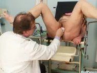 mature stazka gyno fetish real exam at kinky.