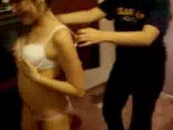 Two drunk teens stripping...