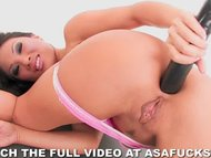 Asa Akira and a big black...