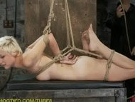 Blond pixie get's tied and tortured