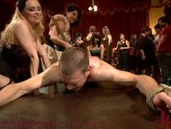 40 women gangbang slaveboy for