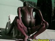 Hot black studs anal hole...