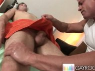 Rubbing twink ass