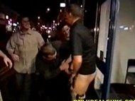 Drunk str8 guy stripped n...