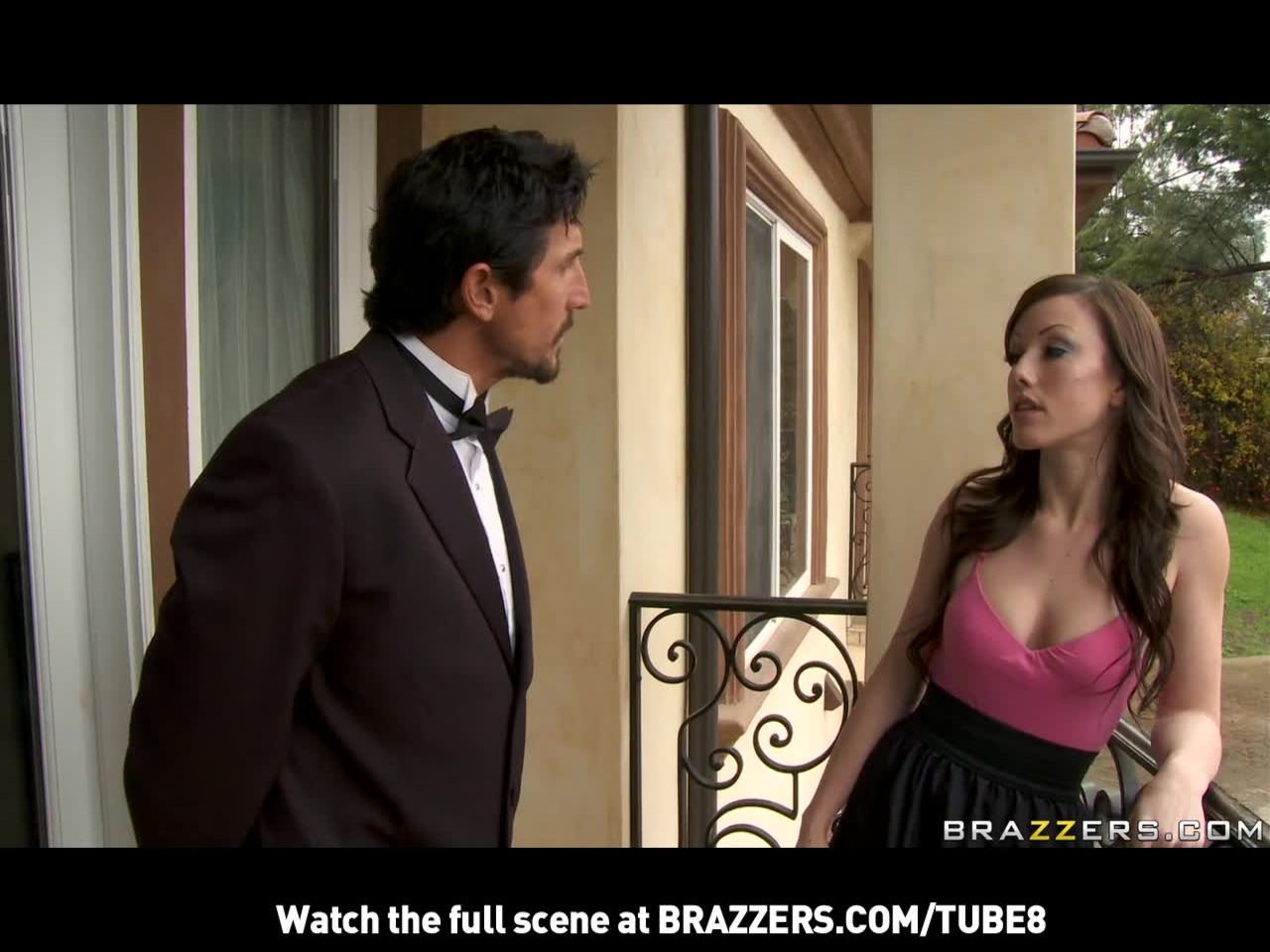 BRUNETTE EXGIRLFRIEND WITH NATURALTITS TAKES ANAL FROM BUTLER