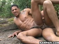 Horny papi fucking his ti...