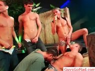 Group of horny drunk guys...