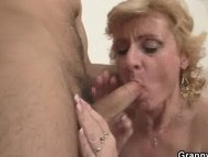 Young guy picks up old blonde