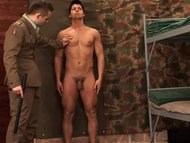Young soldier spanked