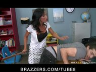 BIG TIT BRUNETTE TEACHER IN FI