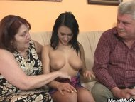 Nasty girl fucking with h...
