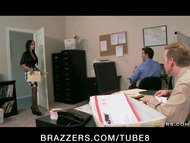 BIG TIT BRUNETTE SLUT BOSS ANAL DP FUCK BIG DICKS IN OFFICE ORGY