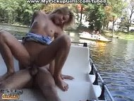 Fucking sexy pick up girl on a boat