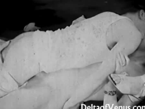 Vintage Porn from the 1930s FFM Threesome Nudist Bar