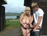 Granny gets nailed in the...