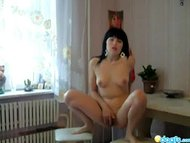 Lovely GF Mila bedroom striptease