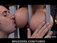 Big Tit Blonde prison gua...