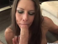 Rachel Roxxx swallows big one
