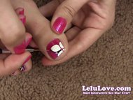 Lelu LoveFoot Fetish Painting Toenails