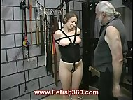 Bad girl getting nipple punish