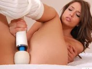 Malena Morgan makes pussy...