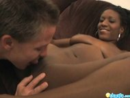 Deep pounding and facialed black gf Berlin