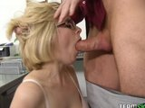 Blonde schoolgirl Penny Pax gets her pink pussy rammed hard