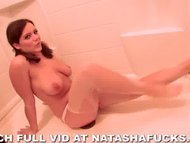Natasha peeing in shower