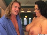 Big tits milf Angelica Sin jumps in rod