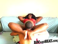 HOT EBONY COUPLE FUCKS AT...