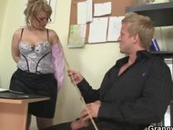 Mature office boss him fuck he
