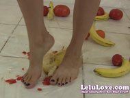 Lelu LoveNaked Femdom Food Crushing 1of3