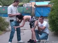 TEEN girl in a PUBLIC thr...