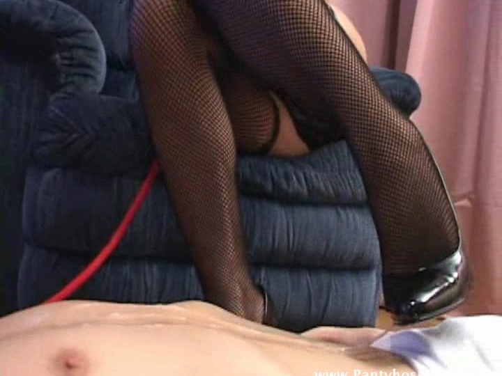 Asian mistress teases poor slaves cock only to give him pain