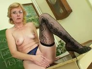 Milf teacher nasty finger...