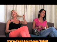 FakeAgent Two girls make me cum quick